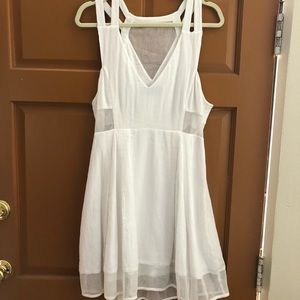 Nasty Gal white cutout dress